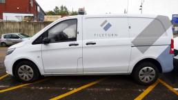 Sideview of Rebranded Fileturn van