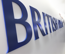 Logo signage for British Airways