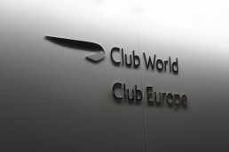 British Airways Club World and Club Europe signage