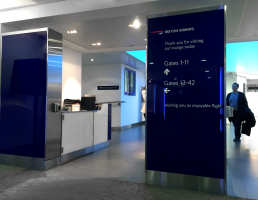 British Airways signage design by clockhouse